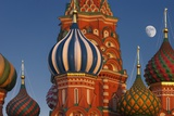Moon Rise over St Basil's Cathedral. Photographic Print by Jon Hicks