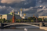 The Kremlin and Moscow River. Photographic Print by Jon Hicks