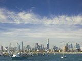 Melbourne Skyline Seen from the St. Kilda Pier Photographic Print by Jon Hicks