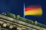 German Flag Flying from the Reichstag Photographic Print by Jon Hicks