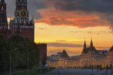 Red Square at Dusk. Photographic Print by Jon Hicks