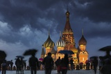 A Wet Evening in Red Square. Photographic Print by Jon Hicks