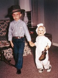 Halloween Scene for Brother and Sister, Ca. 1964. Photographic Print by Kirn Vintage Stock