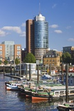 Marina near the Hanseatic Trade Center in Hamburg Photographic Print by Jon Hicks