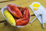 Maine Lobster and Corn on the Cob Photographic Print by Jon Hicks