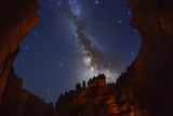 The Milky Way over Bryce Canyon. Photographic Print by Jon Hicks
