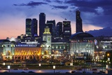 Moskva-City Skyline at Dusk Photographic Print by Jon Hicks
