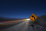 Moonlit Highway in Death Valley. Photographic Print by Jon Hicks