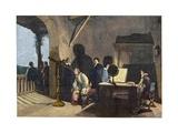 The English Poet John Milton (1608-1674) Visiting the Italian Astronomer Galileo Galilei Giclee Print by Stefano Bianchetti