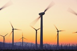 Wind Turbines near Palm Springs. Photographic Print by Jon Hicks