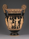 Lucanian Red-Figure Volute Krater or Mixing Vessel with Apollo and Artemis Photographic Print