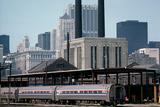 Amtrak Train in Railway Sidings, Chicago Union Station, Illinois, Usa, 1979 Photographic Print by Alain Le Garsmeur