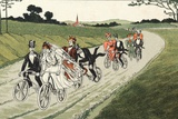 Wedding Party on Bicycles C1910 Photographic Print by Chris Hellier