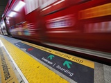 Mind the Gap Sign in a Metro Rio Station. Photographic Print by Jon Hicks