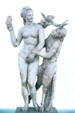 Classical Greek Statue of Aphrodite, Pan and Eros Photographic Print by Chris Hellier