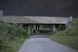 Railway Bridge at Night Photographic Print by Robert Brook