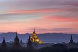 Sunset over Bagan Photographic Print by Jon Hicks