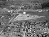 Aerial View of Drive-In Theater in Rural Indiana, Ca. 1955. Photographic Print by Kirn Vintage Stock