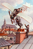 Chimney Sweeps & Personal Plane C1910 Photographic Print by Chris Hellier