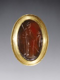 Greek Ring Inset with Intaglio Representing Fortuna Photographic Print