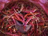 Red Chilies in a Myanmar Market Photographic Print by Jon Hicks