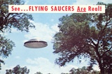Flying Saucers are Real Photographic Print by Found Image Press
