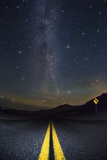 Death Valley Highway at Night Photographic Print by Jon Hicks