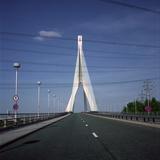 Crossing a Suspension Bridge Photographic Print by Robert Brook