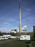 Caravan Site next to Powewr Station Photographic Print by Robert Brook