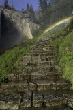 Rainbow over the Mist Trail, near Vernal Falls, Yosemite Np, AZ Photographic Print by Kerrick James