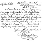Facsimile of a Letter from Benjamin Franklin to His Wife, 1773 (C1880). Photographic Print