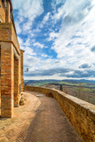 Street View in Pienza, Italy Photographic Print by  eddygaleotti