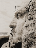 Workmen on George Washington, Mt. Rushmore Photographic Print