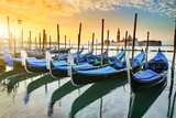 Gondolas in Venezia Photographic Print by vent du sud