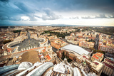 Famous Saint Peter's Square in Vatican and Aerial View of the City, Rome, Italy. Photographic Print by  GekaSkr