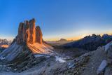 Tre Cime. Dolomite Alps, Italy Photographic Print by Porojnicu Stelian