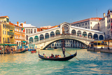 Gondola near Rialto Bridge in Venice, Italy Photographic Print by  sborisov
