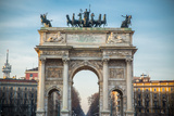 Arch of Peace in Sempione Park, Milan, Lombardy, Italy Photographic Print by  Mixov