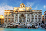 Rome, Fountain Di Trevi, Italy Photographic Print by  TTstudio