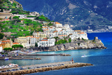 Pictorial Coastal Town Amalfi , Italy Photographic Print by  Maugli-l