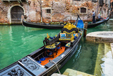 Tourists Travel on Gondolas at Canal Photographic Print by  Alan64