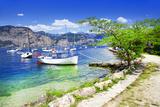 Scenery of Lago Di Garda- Beautiful Lake in Northen Italy Photographic Print by  Maugli-l