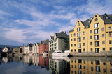 Converted Warehouses in Alesund, Norway Photographic Print by Paul Souders