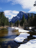 Half Dome and the Merced River in Winter Photographic Print by Gerald French