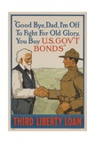 Good Bye Dad, I'm off to Fight for Old Glory, Buy US Government Bonds Giclee Print by David Pollack