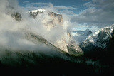 Storm Clearing around Yosemite's El Capitan Peak Photographic Print by Dewitt Jones