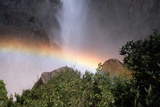Rainbow in Mist of Waterfall Photographic Print by Peter Finger