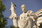 Plato Statue outside the Hellenic Academy Lámina fotográfica por Jon Hicks