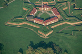 Aerial View of Fort Mchenry National Monument in Baltimore Photographic Print by Paul Souders