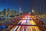 The Brooklyn Bridge and Lower Manhattan Skyline, New York City. Photographic Print by Jon Hicks